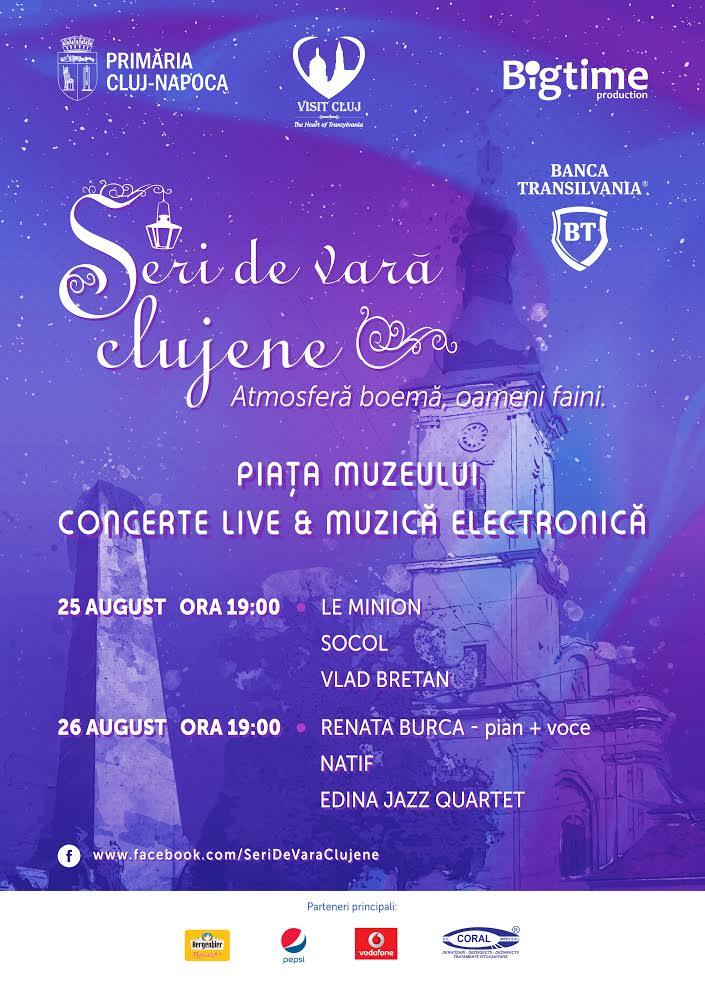 Concerte live și muzică electronică în Piața Muzeului