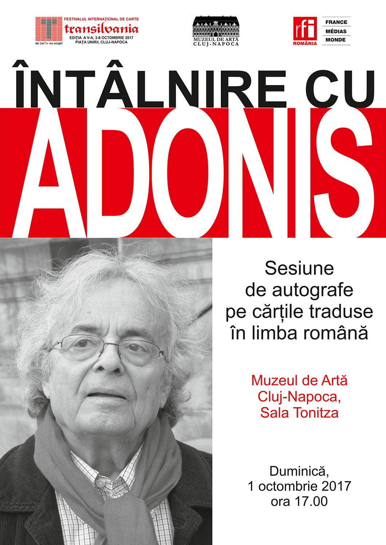 Adonis, invitat de onoare la Festivalul Internațional de Carte Transilvania