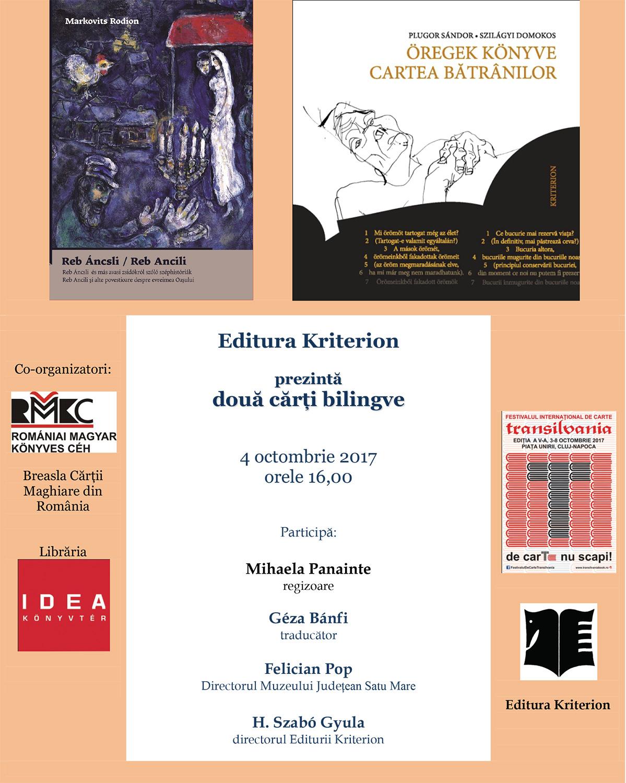 Editurile maghiare la a V-a ediție a Festivalului Internațional de Carte Transilvania