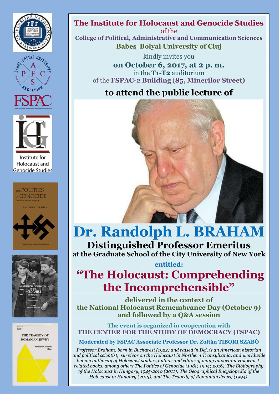 Prelegeri americane pe tema Holocaustului, la FSPAC