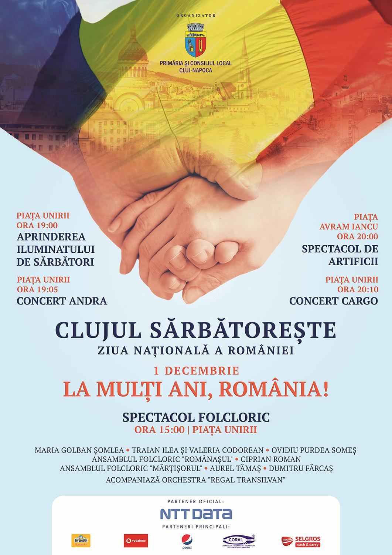 Clujul sărbătorește Ziua Națională a României