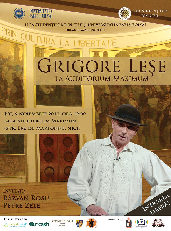 Grigore Leșe la Auditorium Maximum