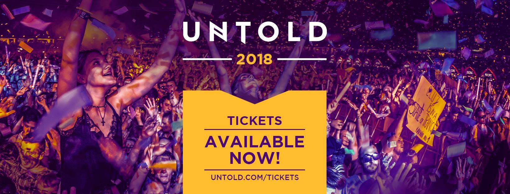 Abonamente UNTOLD la preț special disponibile tuturor până în data de 15 Ianuarie 2018