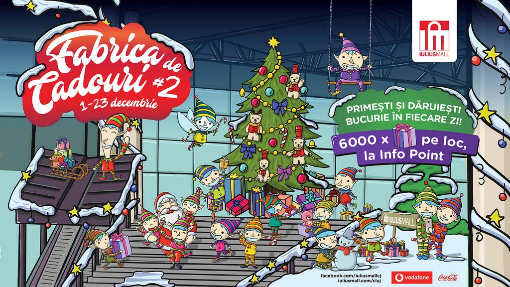 Iulius Mall Cluj deschide Fabrica de Cadouri și oferă șase mii de premii clienților săi