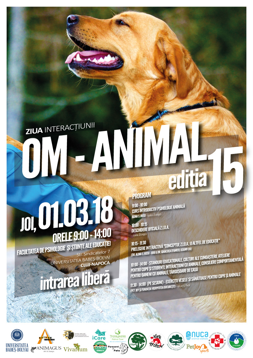 Ziua Interacțiunii Om - Animal (ZIOA)