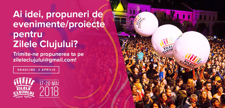Apel de idei / proiecte pentru Zilele Clujului (2018)