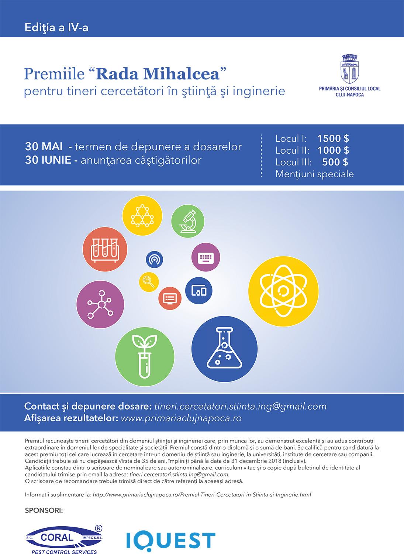 """Premiile """"Rada Mihalcea pentru Tineri Cercetători în Știință și Inginerie"""", ediția a IV-a"""