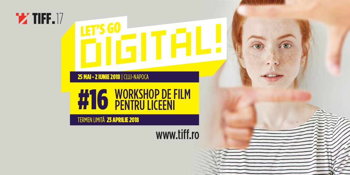 Start înscrierilor la atelierul pentru adolescenți Let's Go Digital!