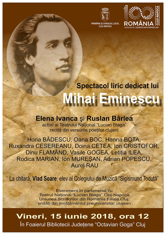 Spectacol liric dedicat lui Mihai Eminescu
