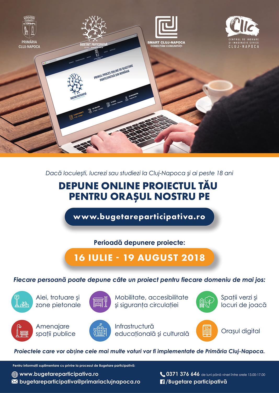 """Primăria Municipiului Cluj-Napoca continuă proiectul """"Bugetare participativă online"""""""