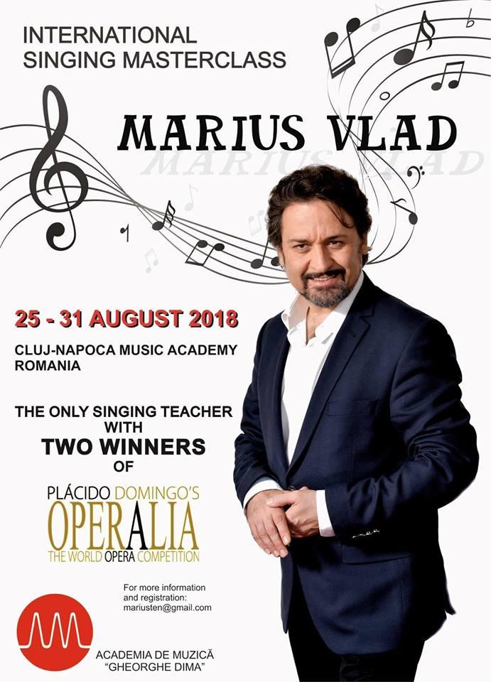 Masterclass internațional susținut de tenorul clujean Marius Vlad
