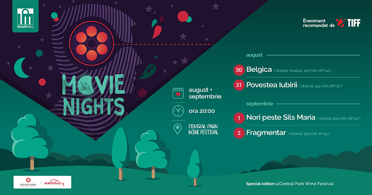 Movie Nights se mută la Central Park Wine Festival
