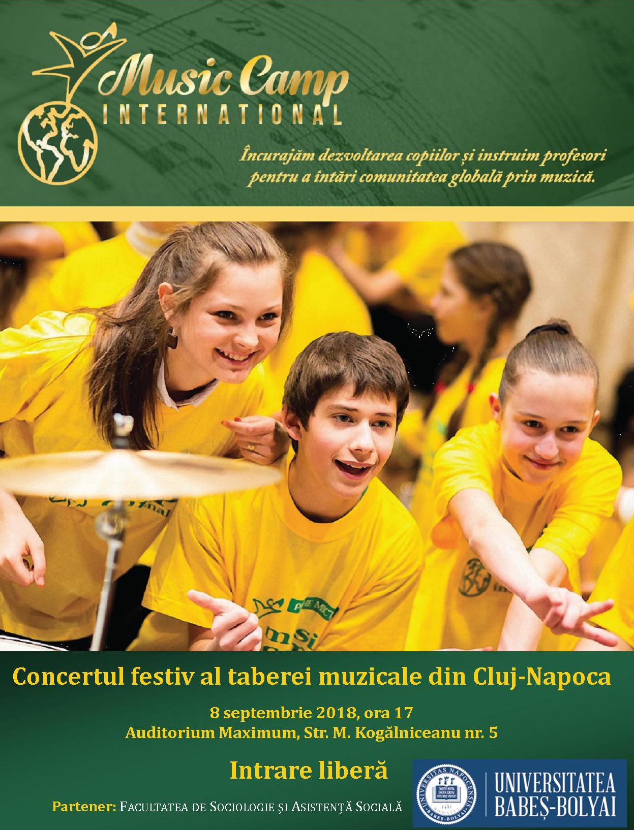 Concertul festiv al școlii de vară de educație muzicală integrativă din Cluj-Napoca, organizat la UBB