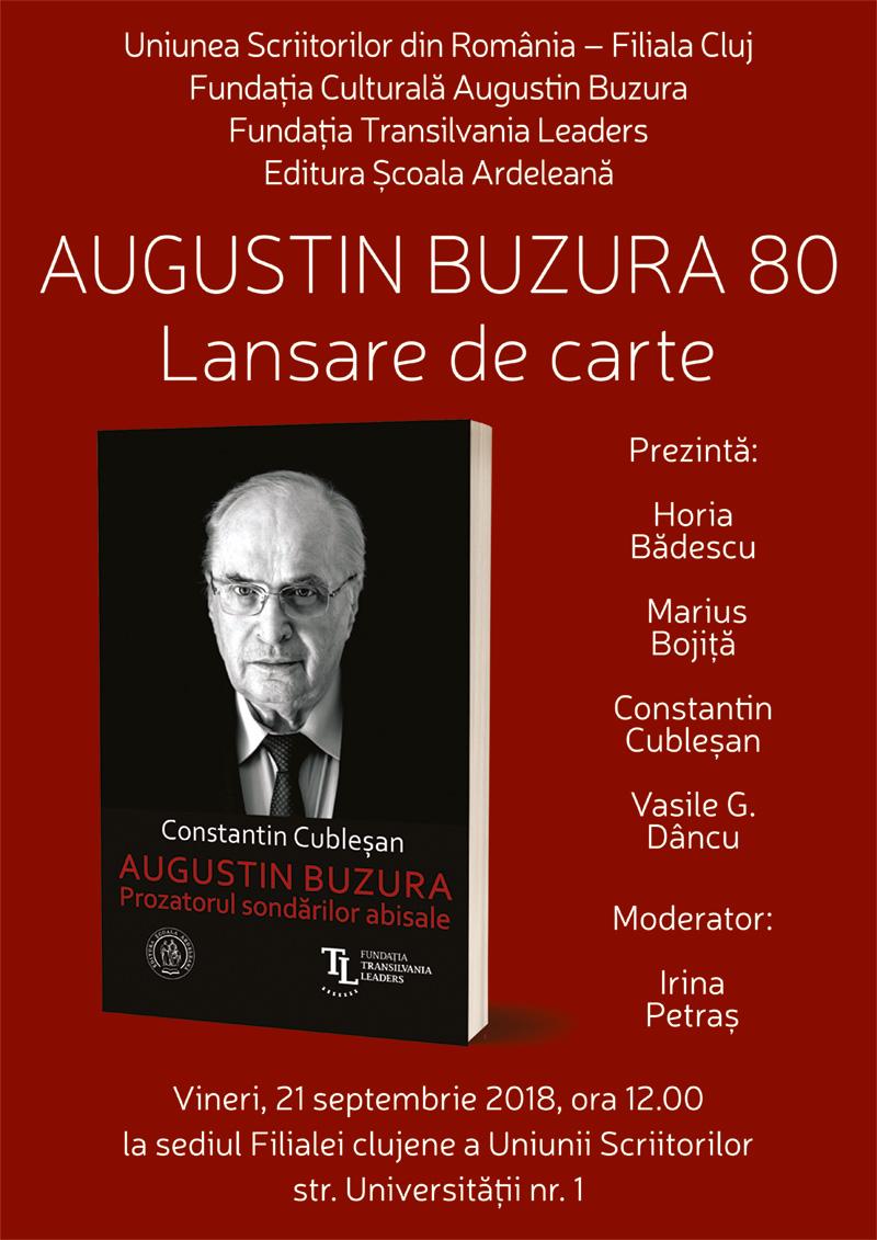 Constantin Cublesan - Augustin Buzura. Prozatorul sondarilor abisale