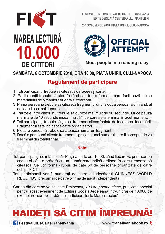 FICT dăruiește zece mii de exemplare din Eminescu la Marea Lectură