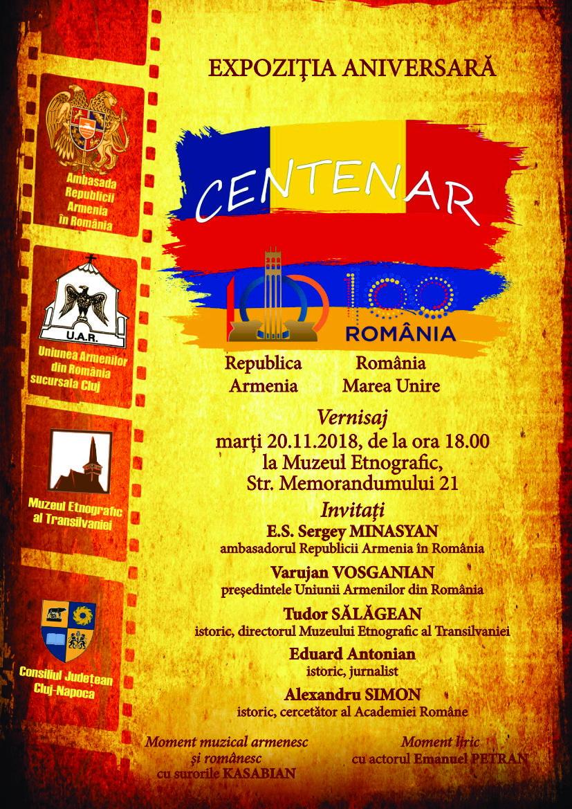 Centenar. Republica Armenia. România – Marea Unire