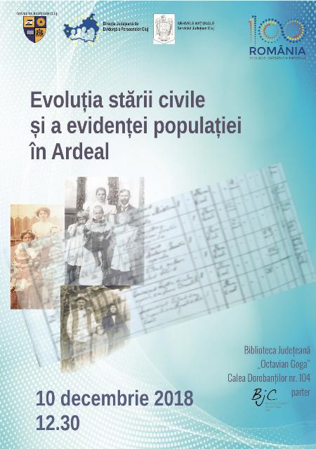 Evoluția stării civile și a evidenței populației în Ardeal