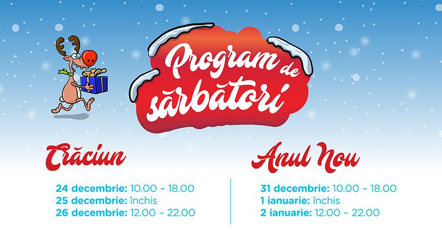 Iulius Mall Cluj va avea un program special de sărbători