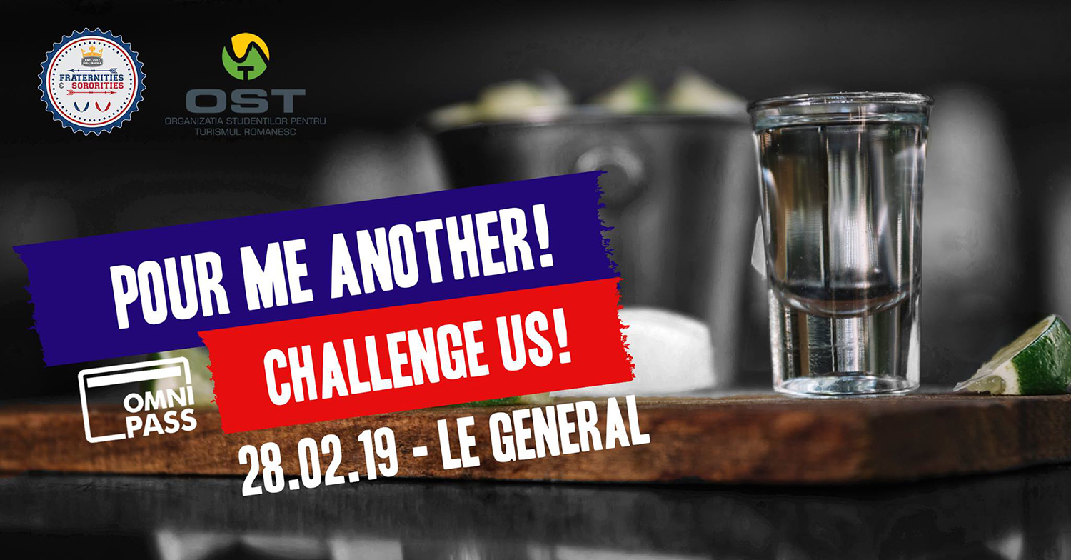 Pour me another! Challenge us!