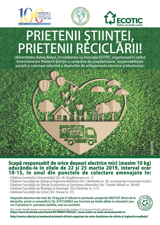 UBB organizează o campanie de colectare selectivă a deșeurilor electrice și  electronice