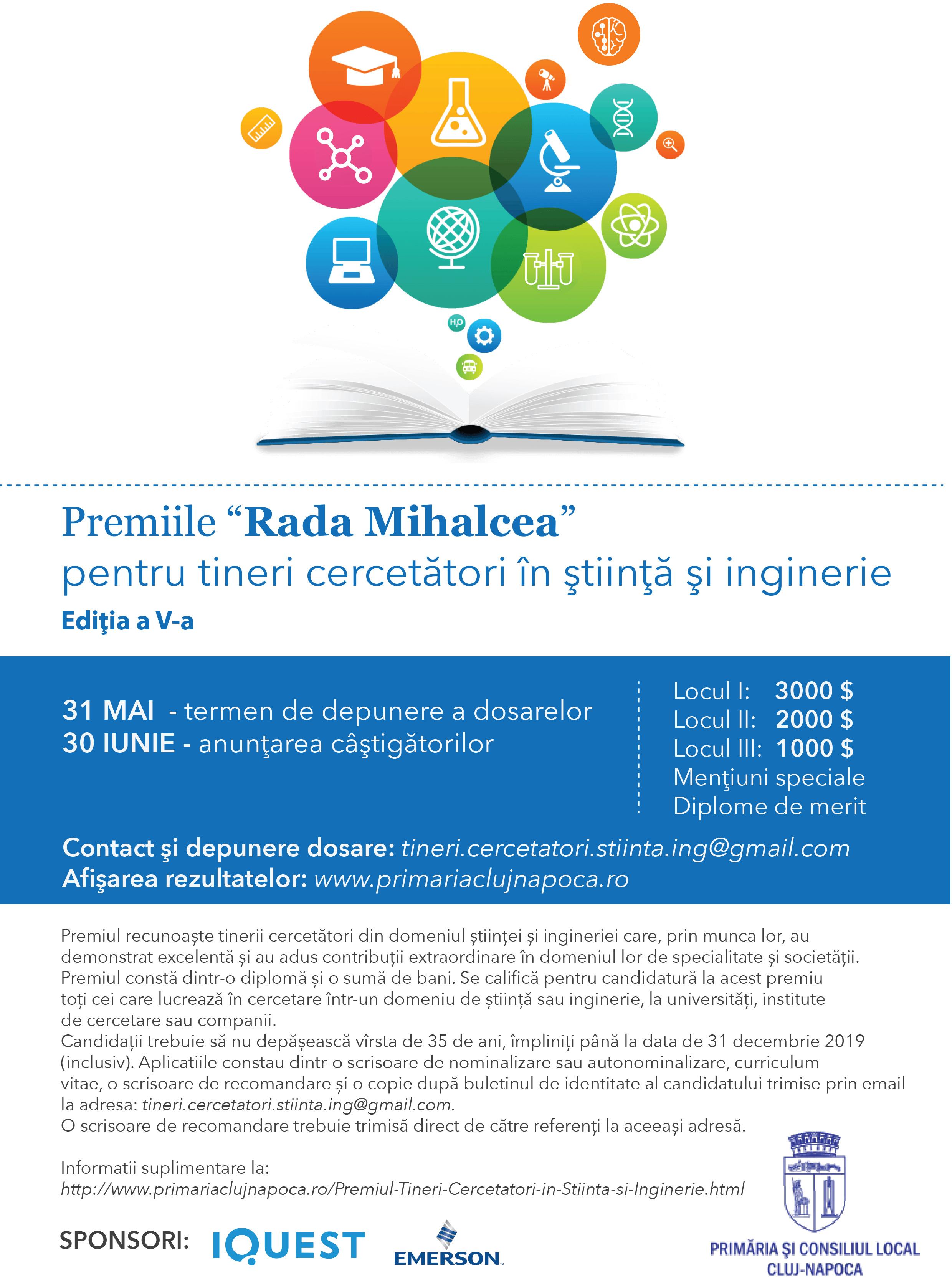 Premiile Rada Mihalcea pentru Tineri Cercetători în Știință și Inginerie, ediția a V-a
