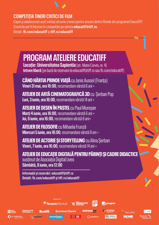 EducaTIFF: cel mai complex program de până acum, pentru copii, adolescenți, părinți și profesori