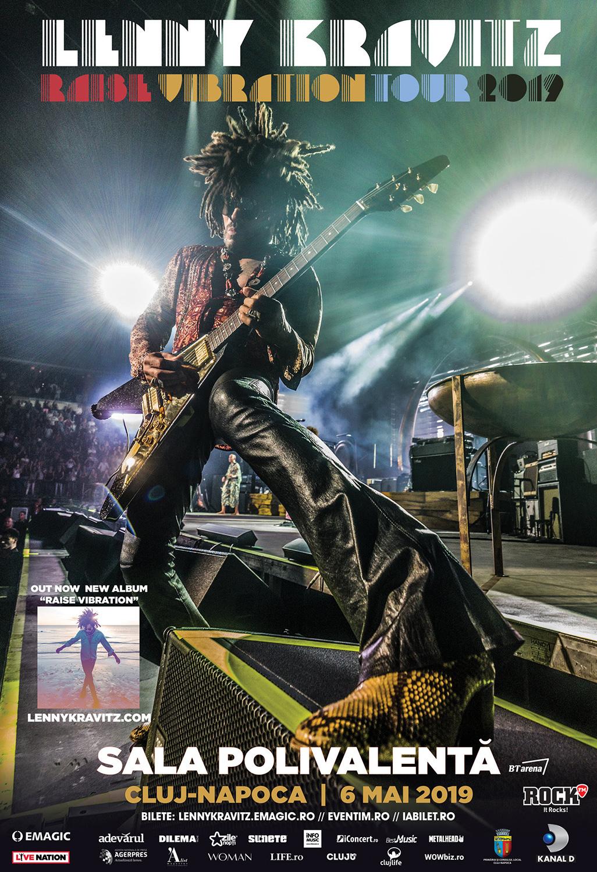 Emagic anunță programul și regulile de acces pentru concertul Lenny Kravitz din Cluj-Napoca