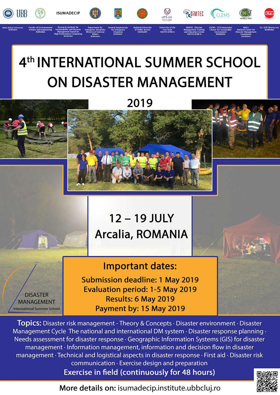 """Cea de-a patra ediție a școlii internaționale de vară cu tema """"Managementul dezastrelor"""", organizată la UBB"""