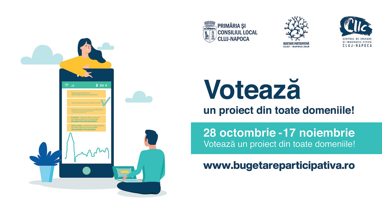 A început votul final în cadrul procesului Bugetare participativă Cluj-Napoca (2019)