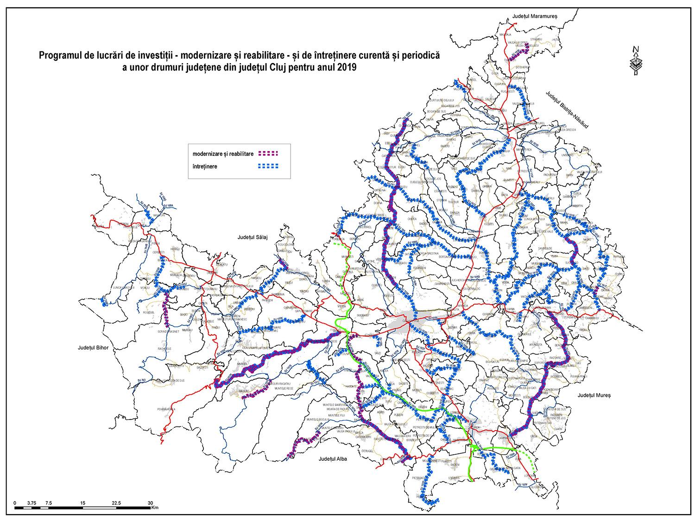 Consiliul Județean Cluj a alocat, suplimentar, 7,2 milioane de lei pentru lucrările la drumurile județene