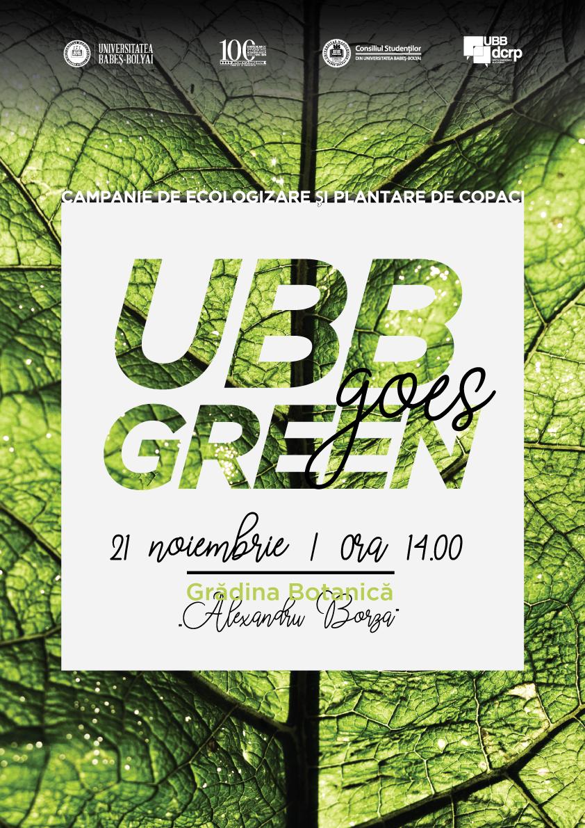 UBB Goes Green, un amplu proiect de dezvoltare sustenabilă