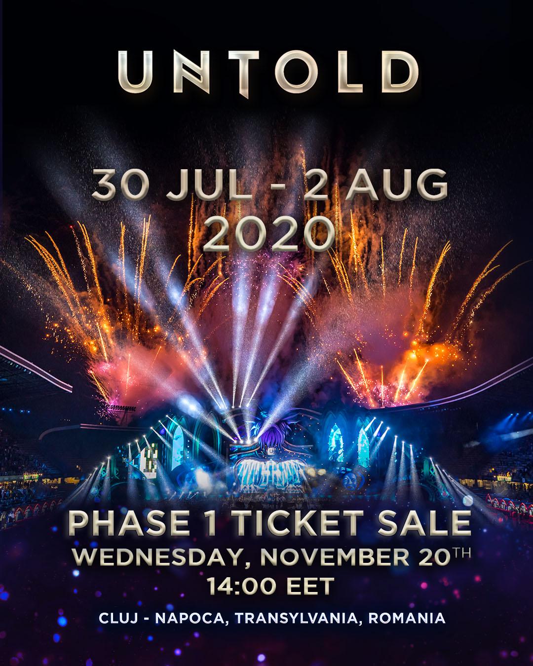 UNTOLD își deschide porțile tărâmului magic, în anul 2020, în perioada 30 iulie – 2 august