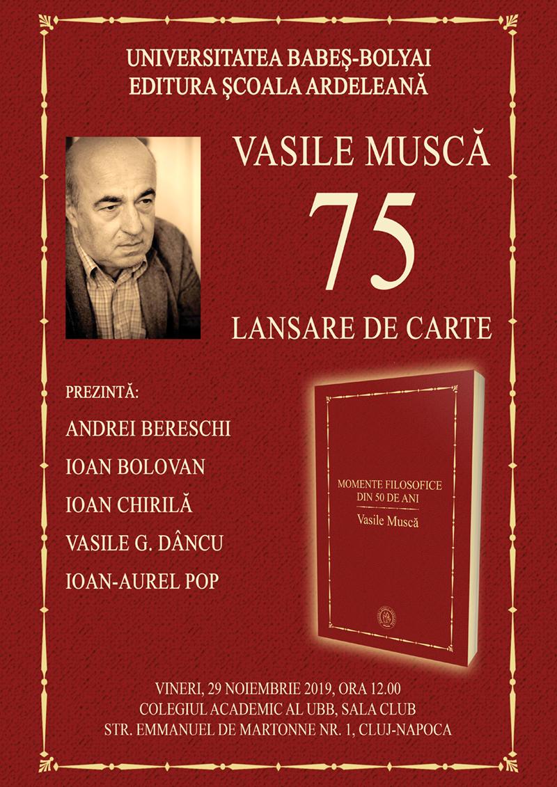 Vasile Musca, sărbătorit la 75 de ani
