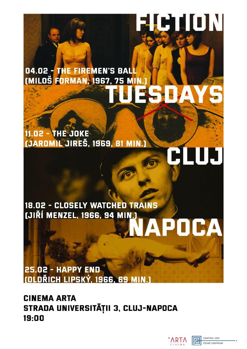 Marțea de film cehoslovac se mută la Cluj - Napoca – Fiction Tuesdays în deplasare