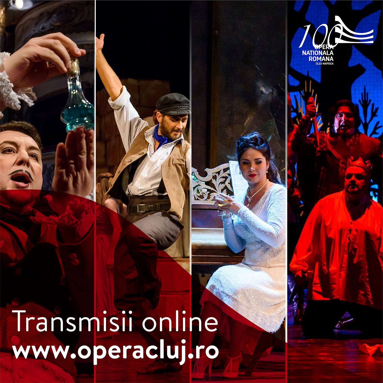 Cele mai îndrăgite spectacole revin pe scena virtuală a Operei Naționale Române din Cluj-Napoca