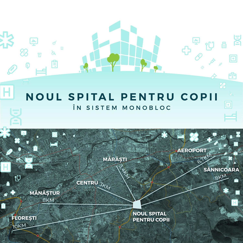 Consiliul Județean Cluj a aprobat preluarea terenului de aproximativ 17 hectare pe care va construi  Spitalul Pediatric Monobloc