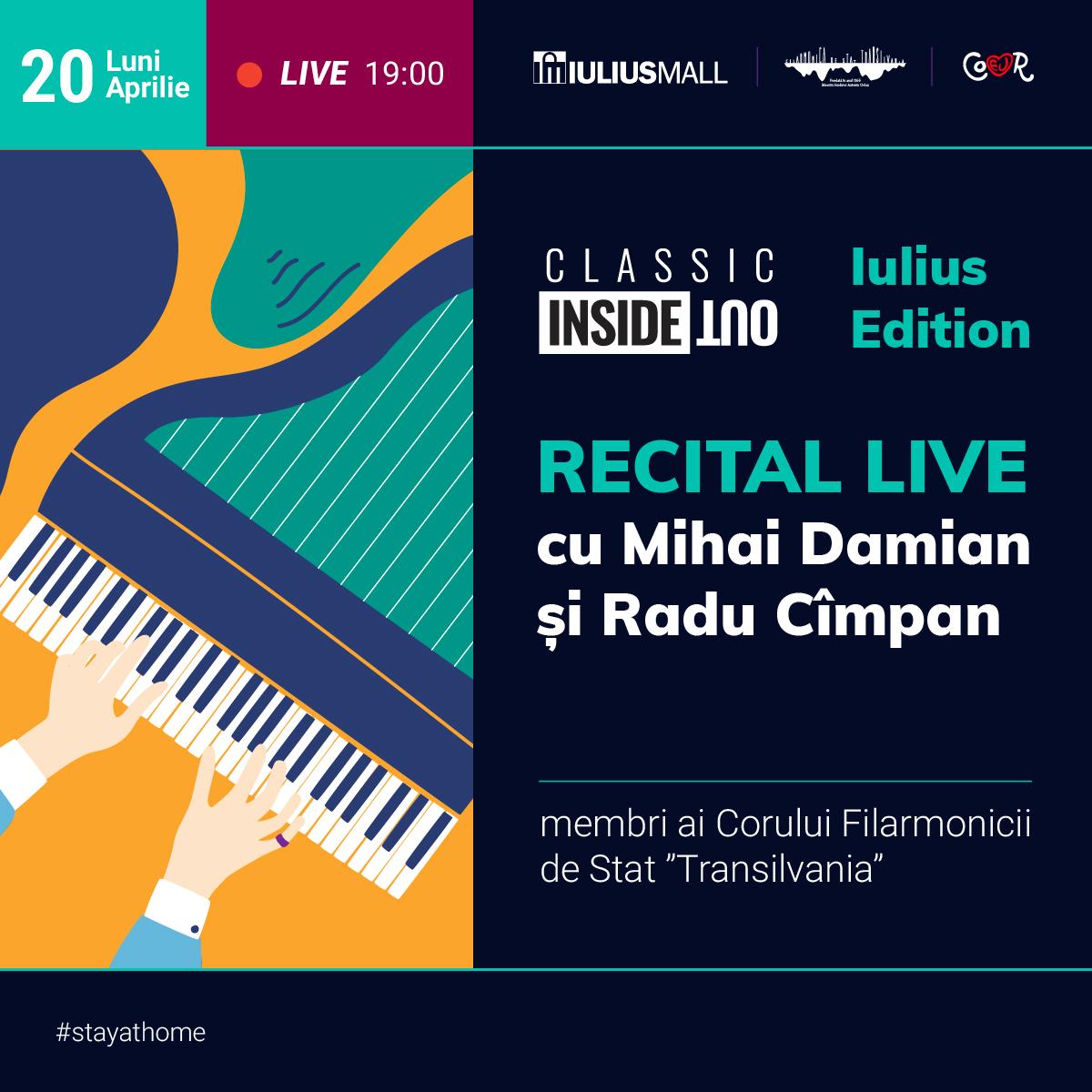 Recital online al Filarmonicii Transilvania pe pagina de Facebook Iulius Mall Cluj