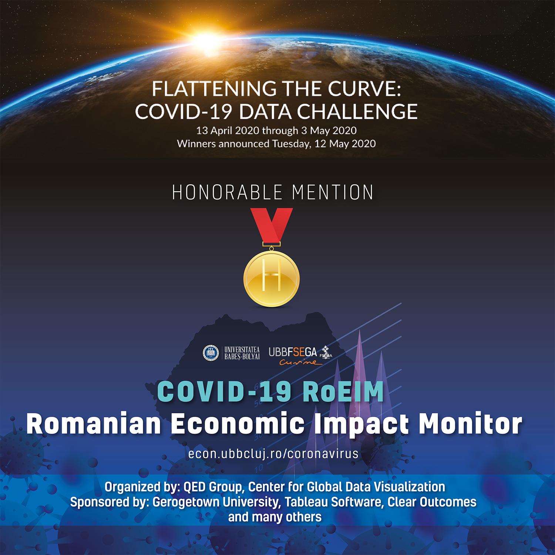 """Proiectul de cercetare """"COVID-19 RoEIM"""" dezvoltat de UBB a fost premiat la o competiție internațională"""