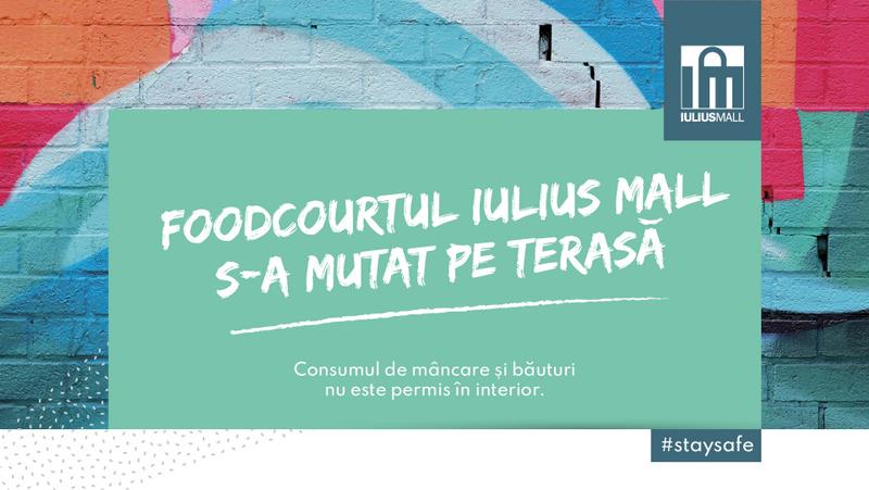 Zona de foodcourt a Iulius Mall a fost reamenajată pentru siguranța clienților