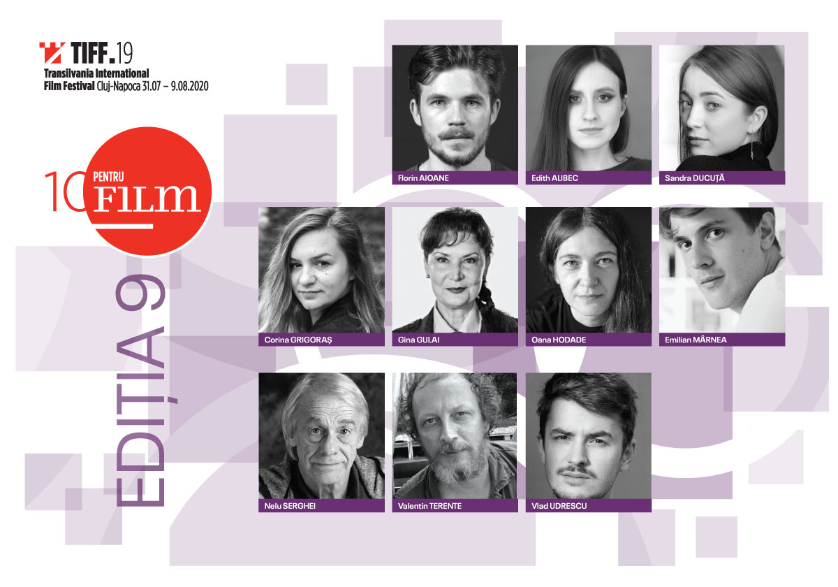 Cei zece actori selectați în programul 10 pentru FILM din cadrul Festivalului Internațional de Film Transilvania (TIFF) 2020