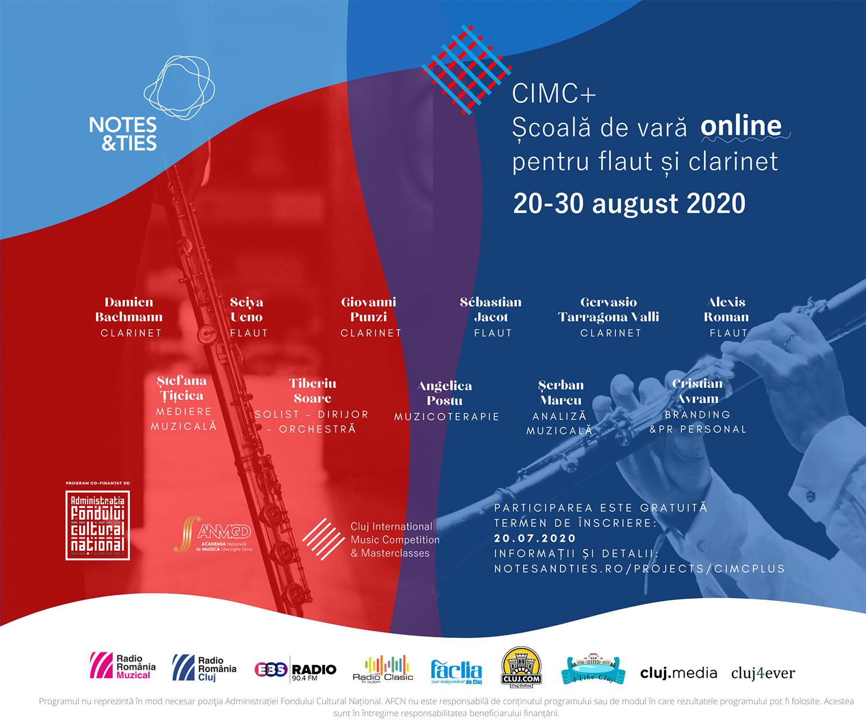 CIMC+: Școală de vară pentru flaut și clarinet