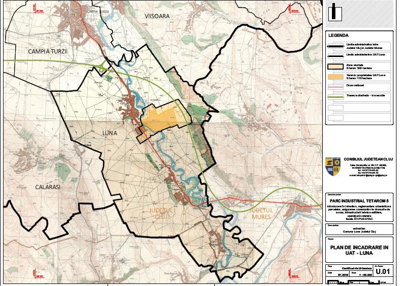Consiliul Județean Cluj a aprobat finanțarea construirii drumului de acces spre viitorul Parc Industrial TETAROM V