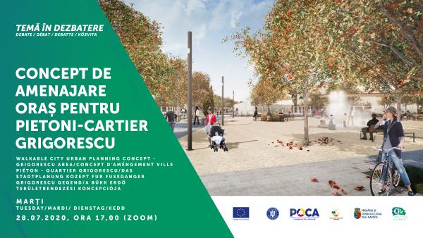 Dezbatere CIIC: spațiu public de calitate în cartierul Grigorescu, cu pietonii și bicicliștii în prim plan