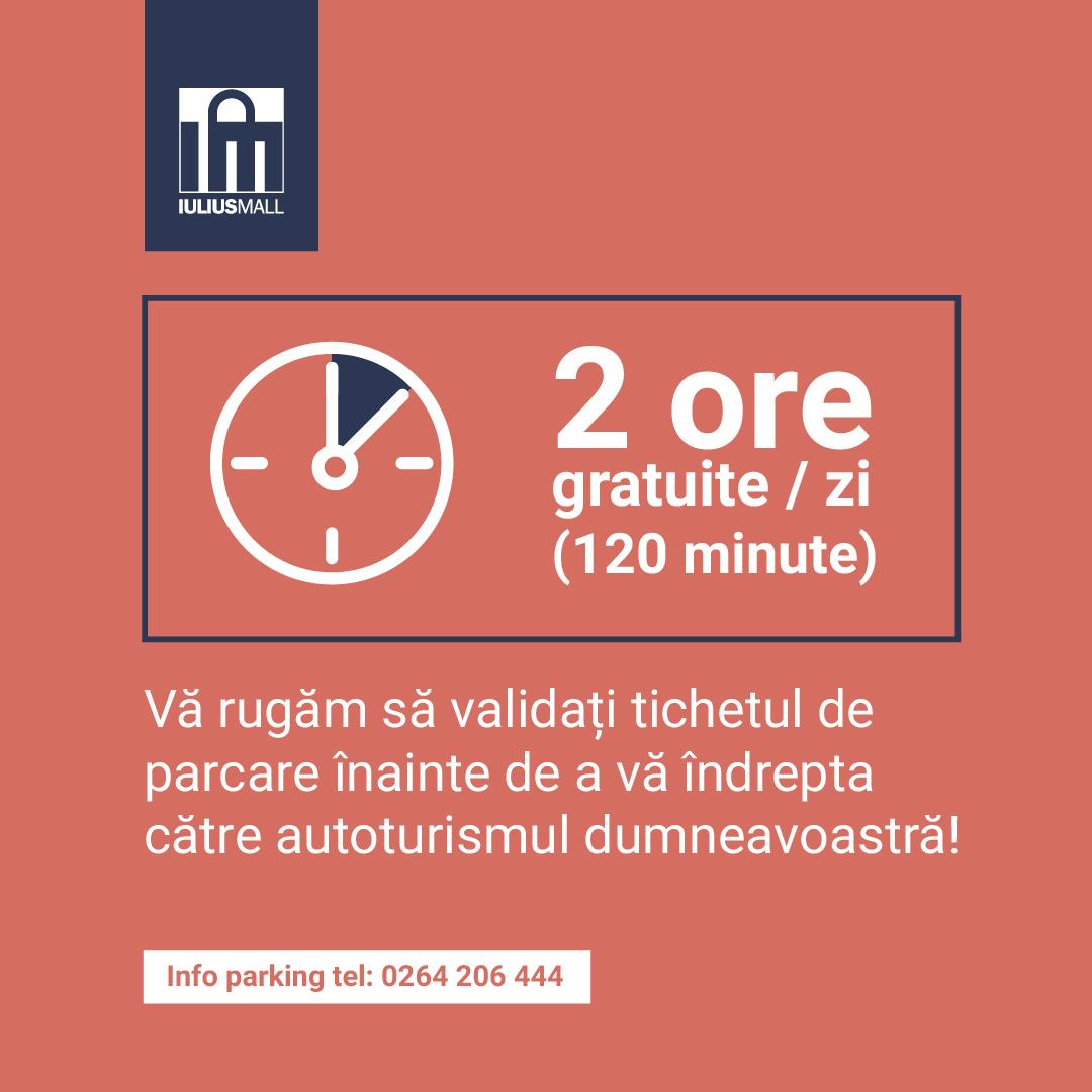 Iulius Mall Cluj dublează timpul de parcare gratuită pentru clienți