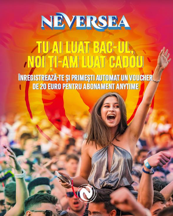 Organizatorii Festivalului Neversea anunță reduceri pentru absolvenții care au promovat examenul de Bacalaureat