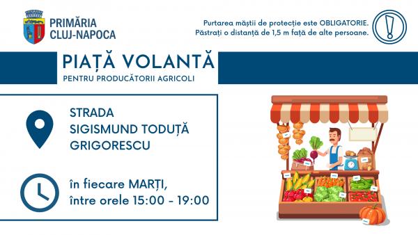 Se redeschide Piața volantă din cartierul Grigorescu din Cluj-Napoca
