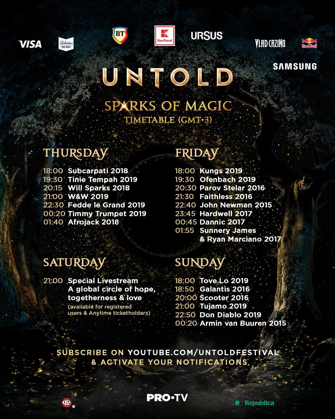 UNTOLD – Sparks of Magic, show-ul ce spune povestea festivalului fenomen la Pro Tv