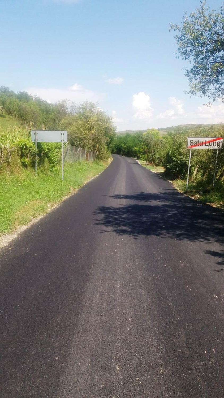 A fost finalizată asfaltarea drumului județean 109V Satu Lung – Giula