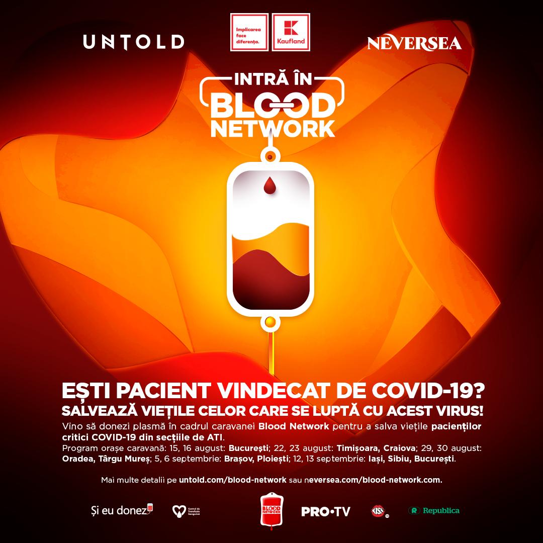 Campania Blood Network susține donarea de plasmă pentru pacienții care luptă cu COVID-19