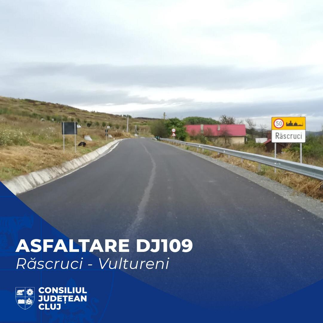 Consiliul Județean Cluj a finalizat lucrările de asfaltare pe Lotul I al Drumului Bistriței